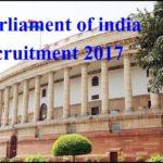भारत की संसद में 52 Housekeepers की भर्ती ,Parliament of India Recruitment 2017  – 52 Housekeeper