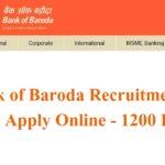 Bank of Baroda Recruitment 2017 Apply Online – 1200 Posts