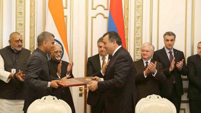 India Armenia Three agreements between