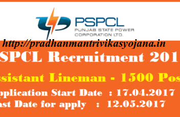 PSPCL Recruitment 2017 Apply Online