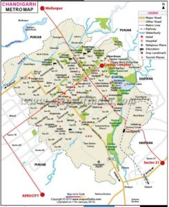 chandigarh metro map