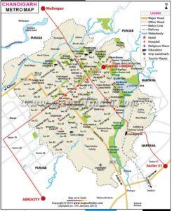 chandigarh metro map