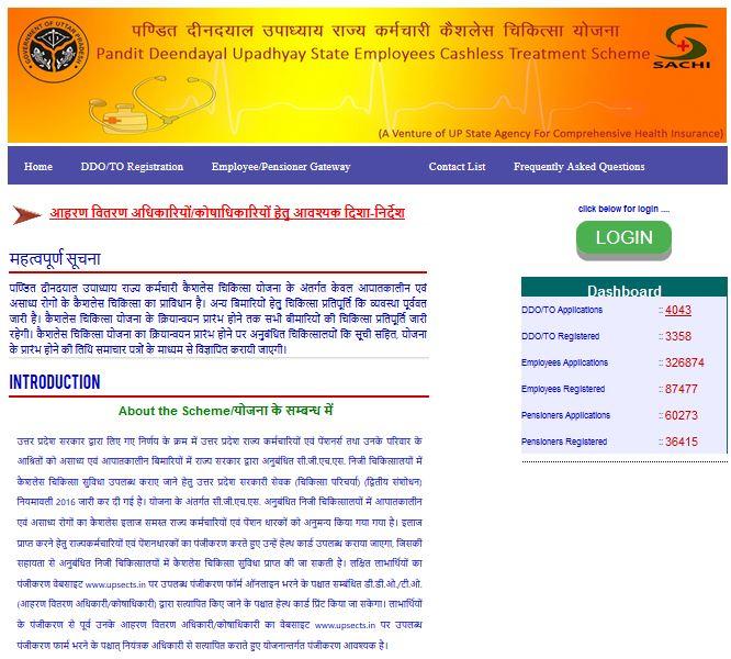 Pandit Deendayal Upadhyaya Cashless Chikitsa Yojana