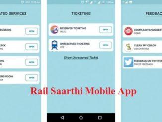 Rail Saarthi Mobile App