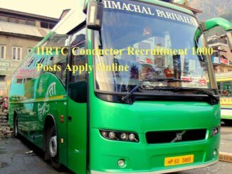 HRTC Conductor Recruitment 1000 Posts Apply Online
