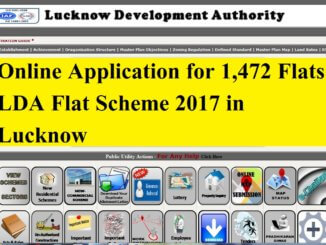 Online Application for 1,472 Flats LDA Flat Scheme 2017 in Lucknow