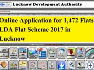 Online Application for 1,472 Flats LDA Flat Scheme 2017 in Lucknow