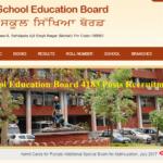 Punjab School Education Board 4183 Posts Recruitment 2019