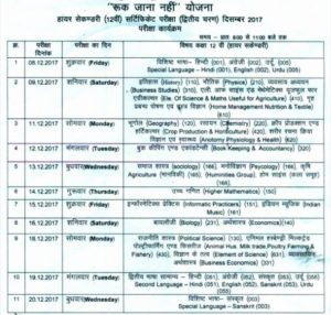 Time Table RJN December 2017 12th