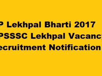 UPSSSC Lekhpal Bharti 2017