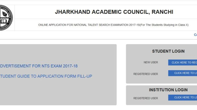 NATIONAL TALENT SEARCH EXAMINATION 2017-18 Registration Form