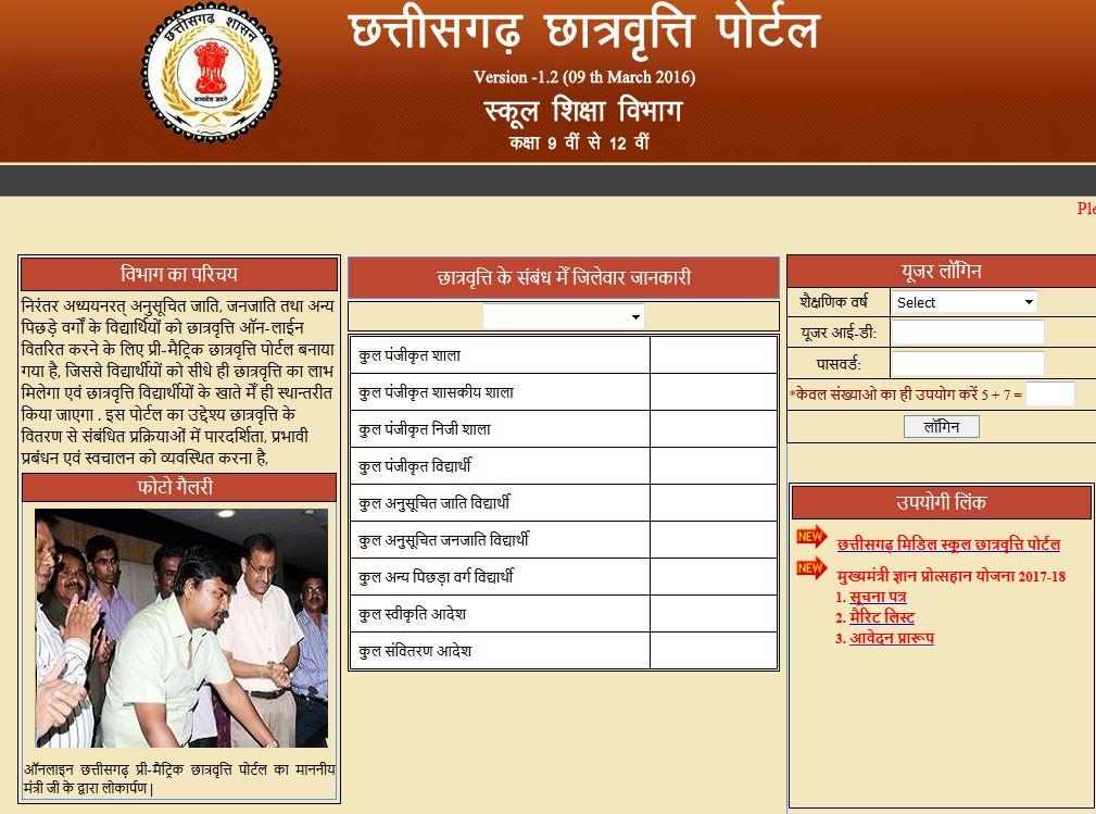 Mukhyamantri Gyan Protsahan Yojana 2017-18 Chhattisgarh