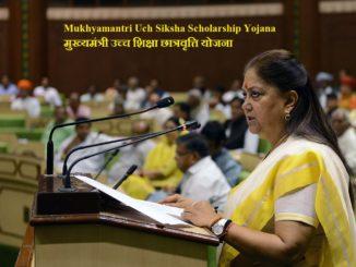 Application Form Uch Siksha Scholarship Yojana Rajasthan