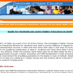 दिल्ली उच्च शिक्षा वित्तीय सहायता योजना 2020   Application form Delhi Uch Siksha Rin Yojana