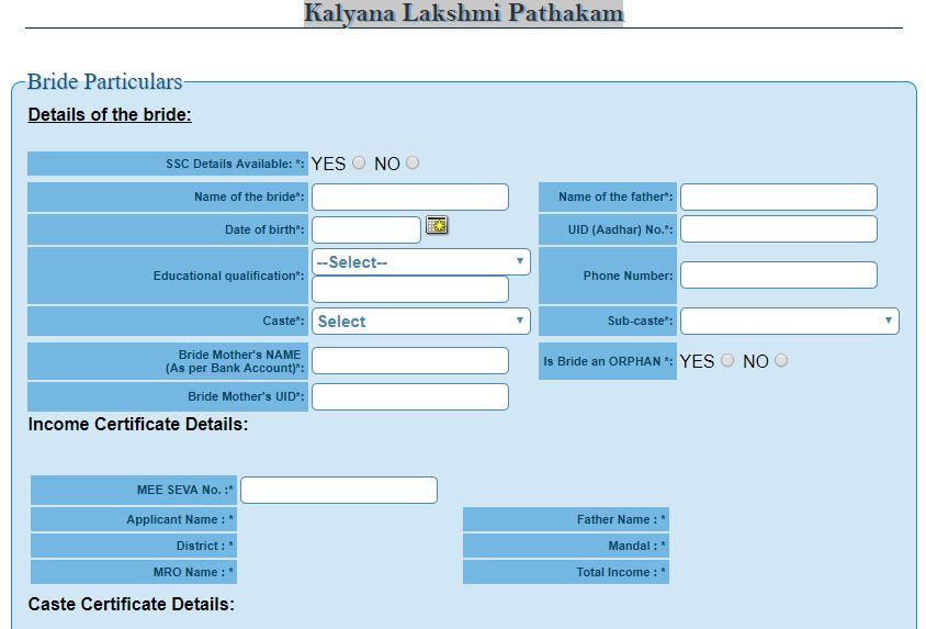 Kalyana Lakshmi Pathakam