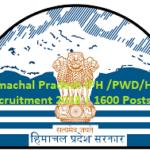 HP IPH PWD 1578 Posts 2020 | हिमाचल प्रदेश सिंचाई विभाग भर्ती 1578 पद 2020