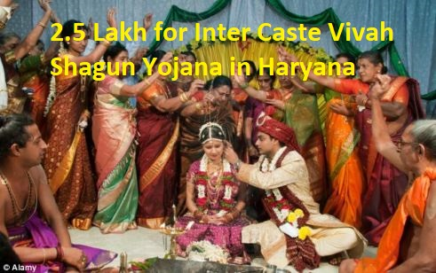 2.5 Lakh for Inter Caste Vivah Shagun Yojana in Haryana
