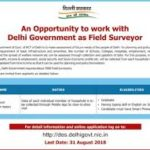 Field Surveyor Hiring 2019 Delhi Govt.
