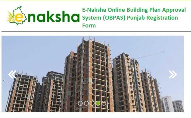 E-Naksha Online Building Plan Approval System (OBPAS) Punjab Registration Form