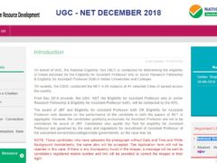 UGC NET DECEMBER 2018