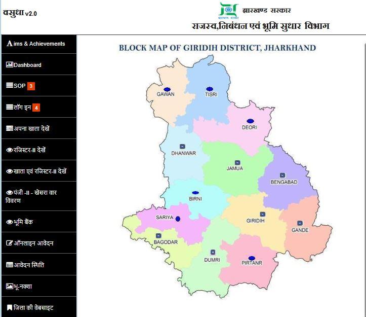 Jharkhand bhulekh Bhu Naksha khasra khatauni