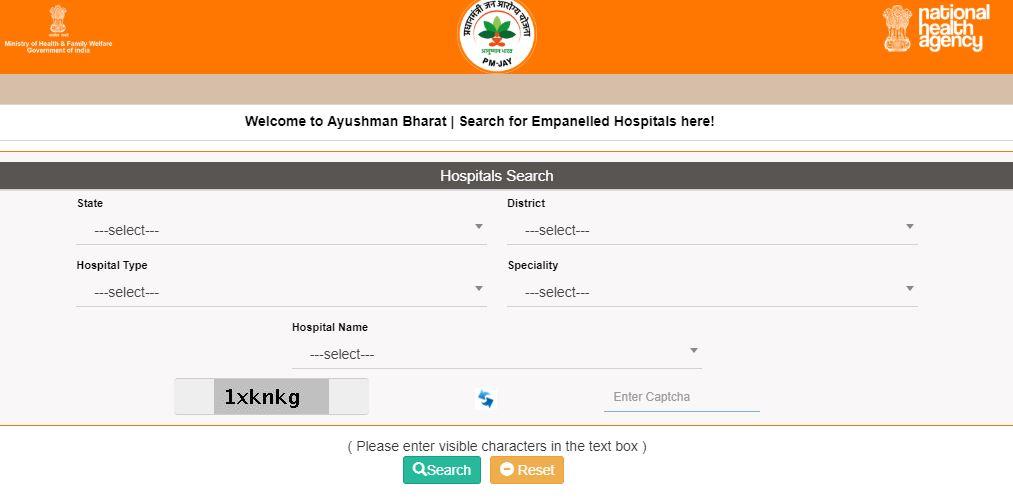 Ayushman Bharat Hospitals List