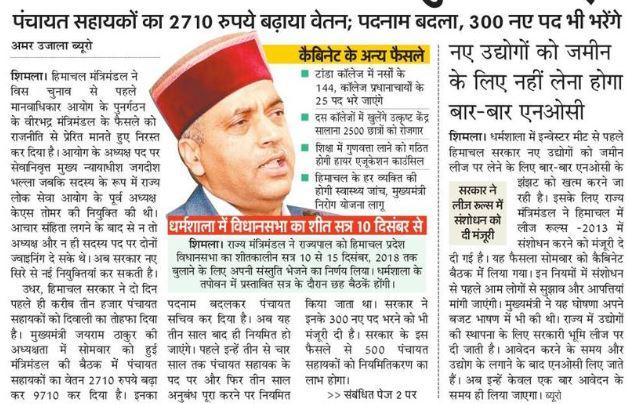 Himachal Pradesh 300 Panchayat Sachiv Posts