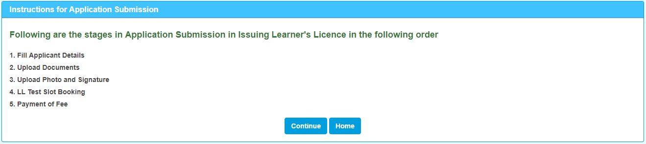 Learner's Licence