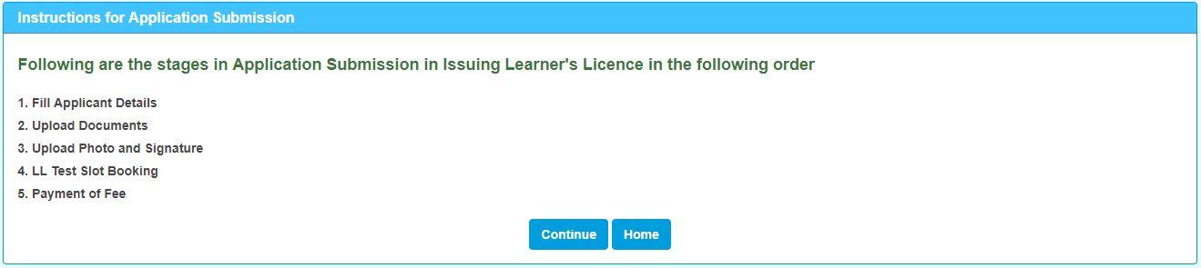 Learner's Licence