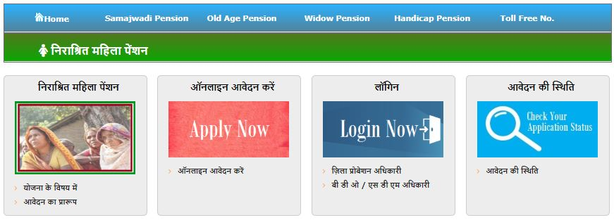 UP Vidhwa Pension Yojana Application form