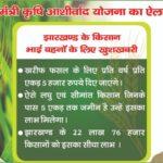 मुख्यमंत्री कृषि आशीर्वाद योजना 2020