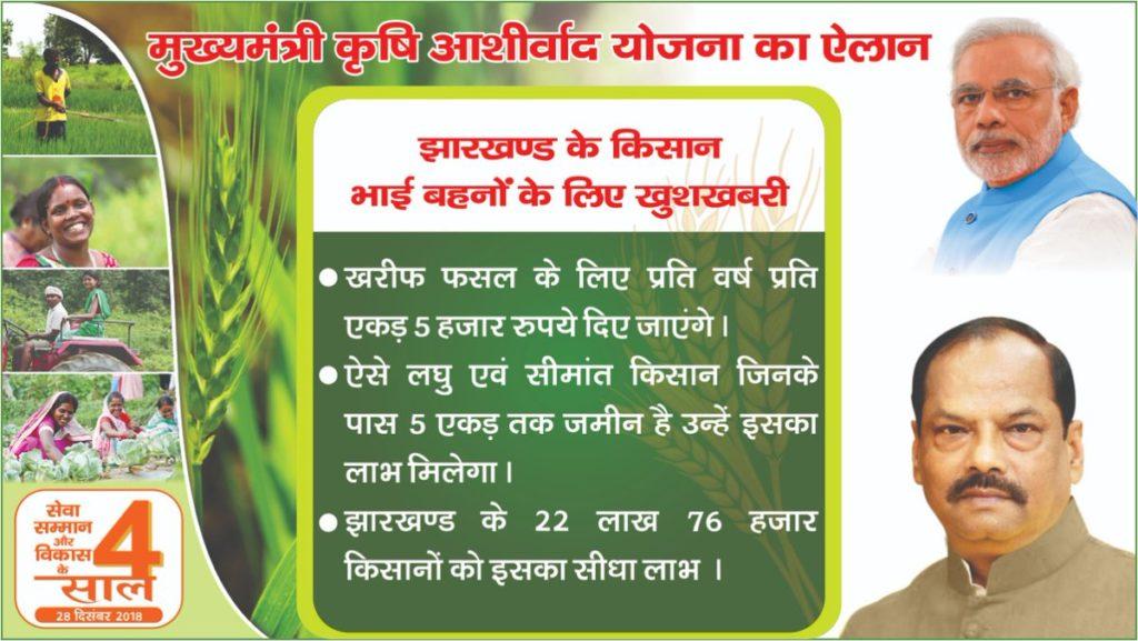 krishi aashirwad yojana Jharkhand