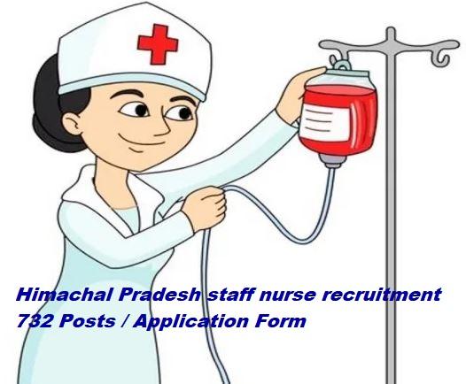 Himachal Pradesh staff nurse recruitment 732 Posts। Application Form