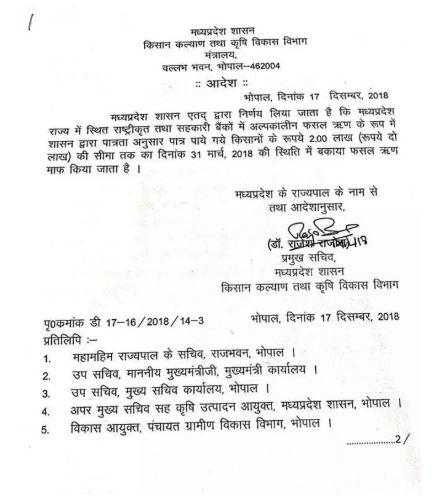 Madhya Pradesh Kisan Karj Mafi