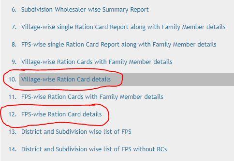 List ration card assam