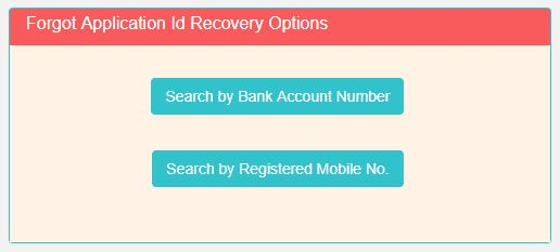 Forgot Application Id Recovery Options