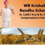Online form Krishak Bandhu scheme 2020 WB
