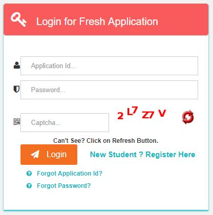 Login for Fresh Application