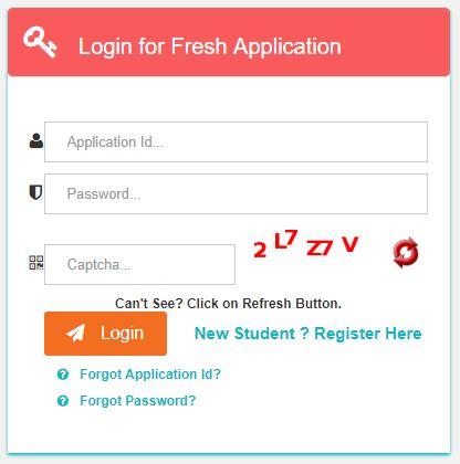 Login for Fresh Application
