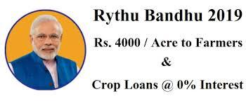 Pradhan mantri Rythu Bandhu Scheme 2019 Modi's