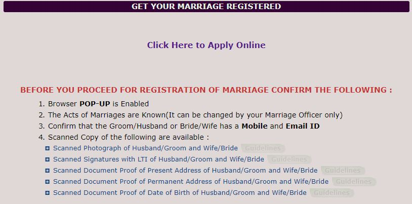 Registration your Marriage