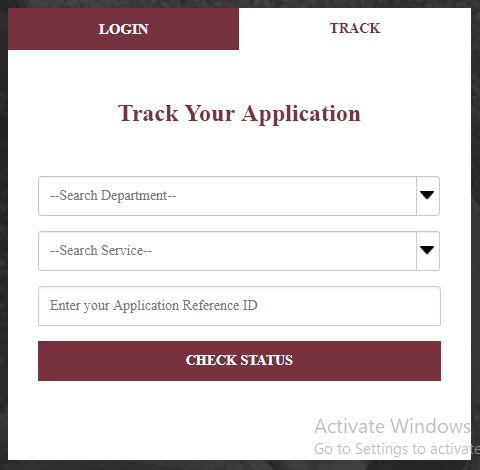 Track Your Application 1