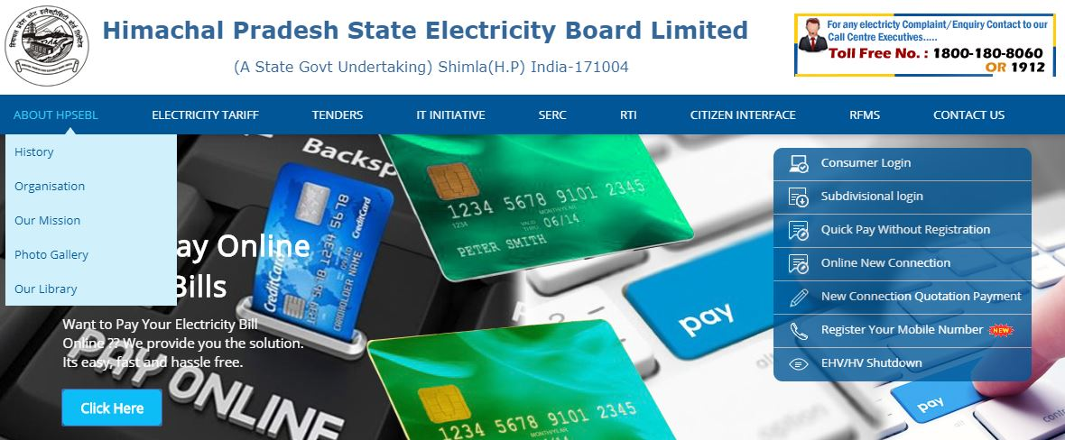 hpseb Online Electricity bill Payment
