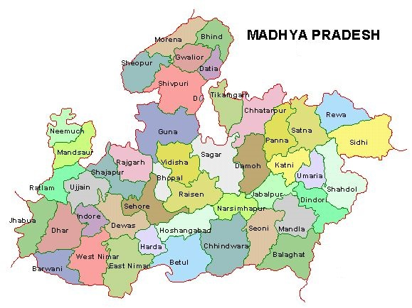 mp districts list