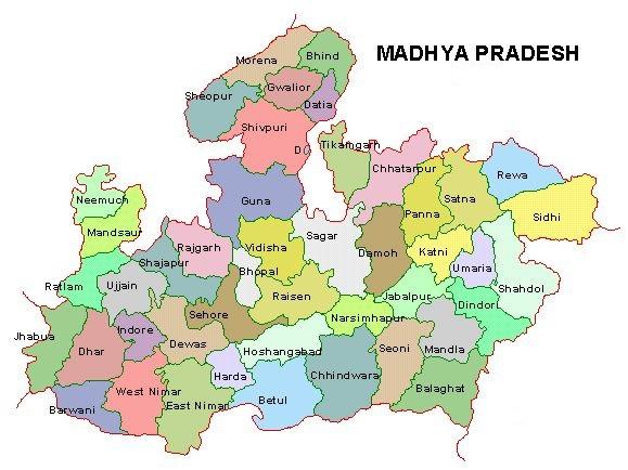 mp districts list