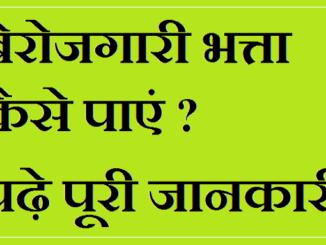 online form berojgari bhatta rajasthan