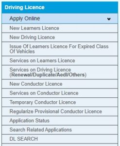 Online Application Form Learner & Permanent Driving License in Himachal Pradesh